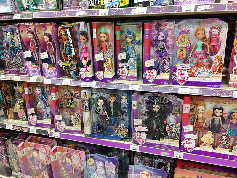 Ever After High Toys R Us : Toys r us shop run and journey girls haul american girl