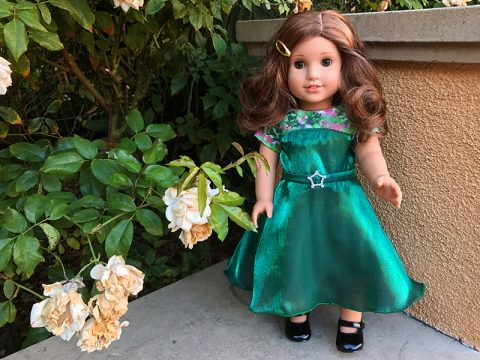 rebecca-rubin-ag-doll-green-satin-lace-dress