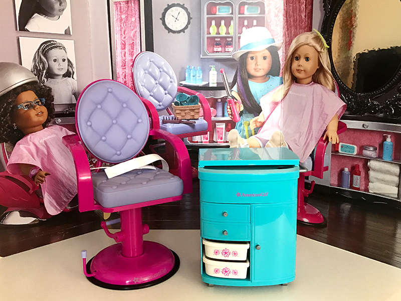 A Day At The Hair Salon With American Girl Dolls | American Girl ... A Day at the Hair Salon with American Girl Dolls | American Girl ... Hair Style Girl american girl doll hair salon styling kit