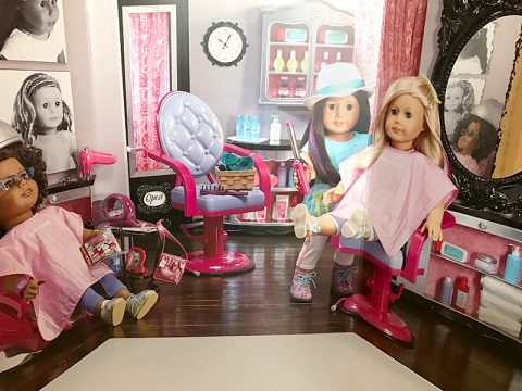 A Day At The Hair Salon With American Girl Dolls