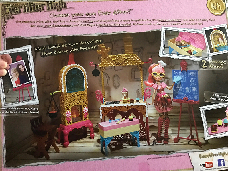 Ever After High Ginger Doll Sugar Coated Class Set Kitchen Bench Furniture NEW